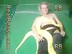 Blond and snake